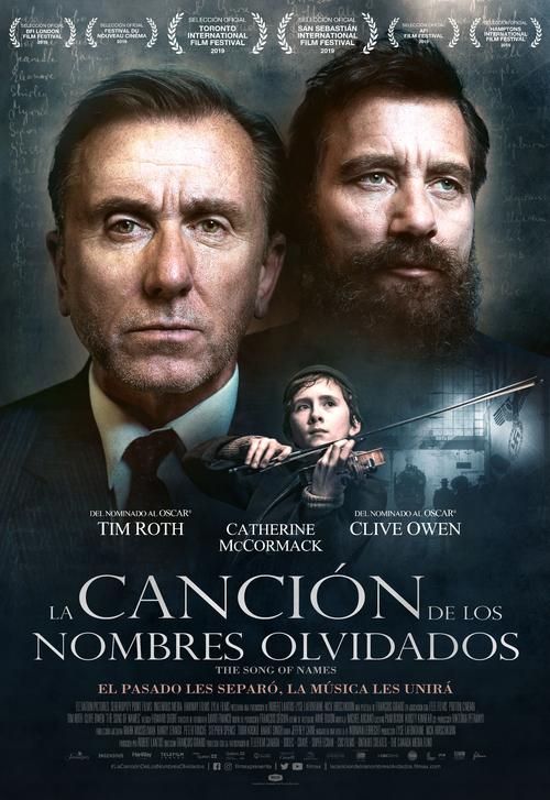 Cartel de La canción de los nombres olvidados , estrenos del 13 de marzo