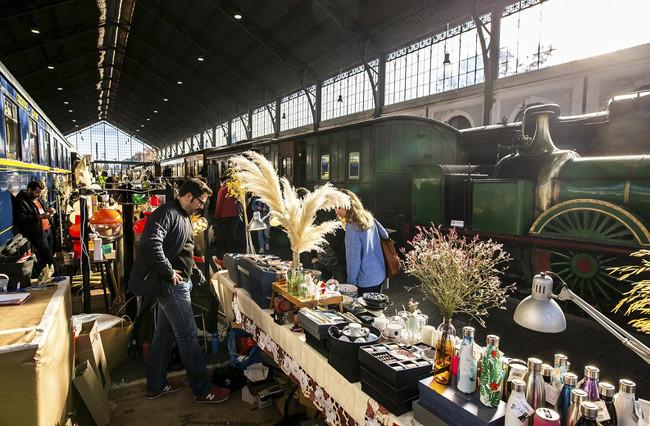 Mercado de Motores dentro del Museo del Ferrocarril