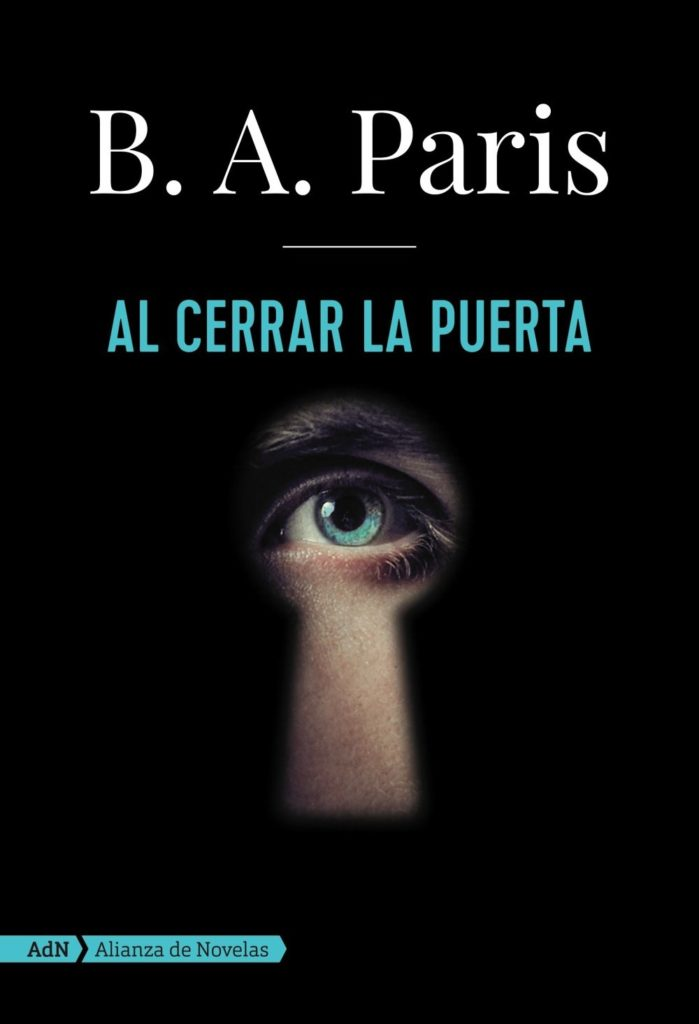 """Portada del libro """"Al cerrar la puerta"""" de B. A. Paris"""