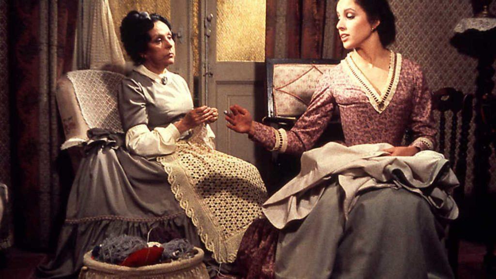 Fortunata y Jacinta. Aquí, las actrices María Luisa Ponte y Ana Belén. Casa-Museo Pérez Galdós