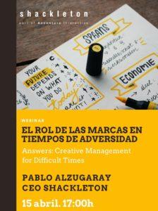 "Cartel Webinar  ""Answers: Creative Management for Difficult Times"" de la UNAV"
