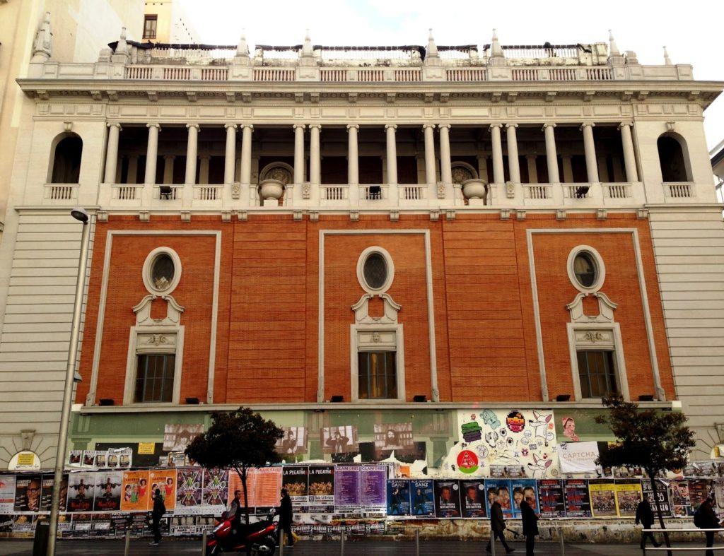 Fachada actual del Palacio de la Música, en la Gran Vía madrileña.