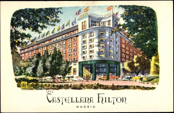 Foto del hotel Castellana Hilton de Madrid, lugar donde se desarrolla el libro Las fuentes del silencio