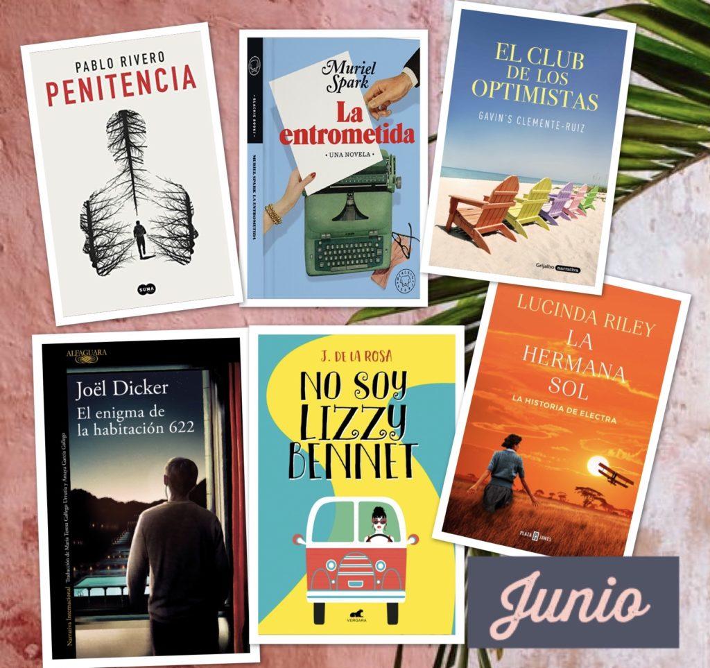 Portadas de las novedades literarias tras el confinamiento para el mes de junio