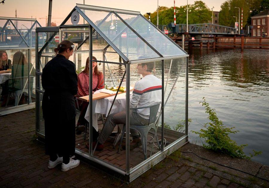 Cabinas en restaurantes