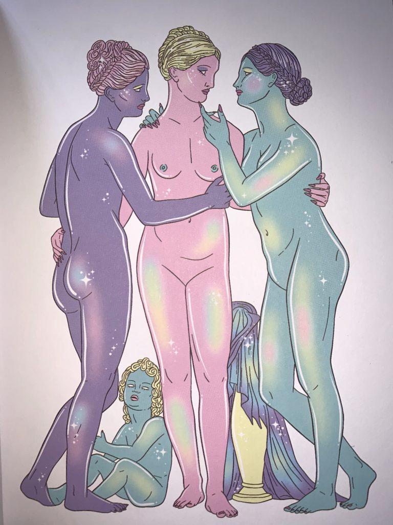 Imagen de las Tres Gracias, que aparece en el libro Venuscentrismo de Isa Muguruza