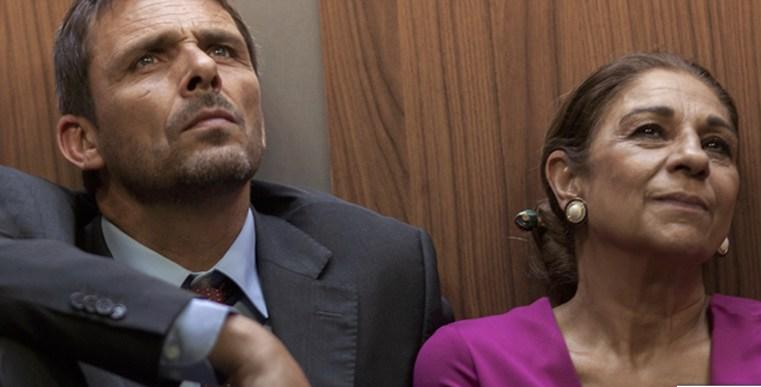 Los actores Luis Mottola y Lolita, en Llévame hasta el cielo