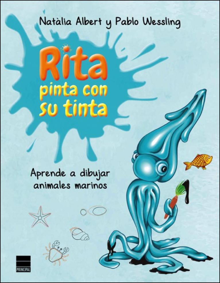 """Portada de """"Rita pinta con su tinta uno de los títulos"""" una de las lecturas veraniegas para los más pequeños"""
