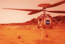 Marte helicóptero