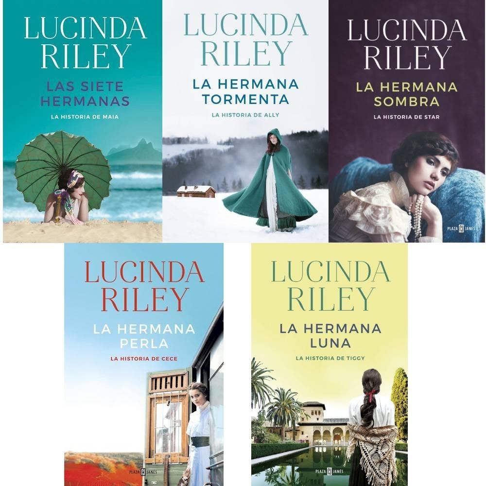 Portadas de las novelas de Lucinda Riley que forman parte de La saga Las siete hermanas, donde falta incluir La hermana Sol