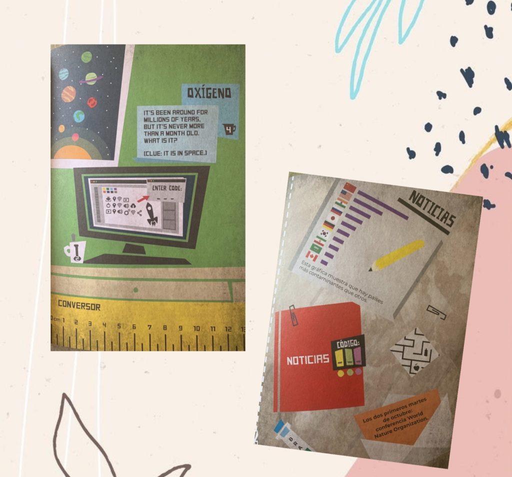 Imágenes del interior del libro Escape Room Educativo