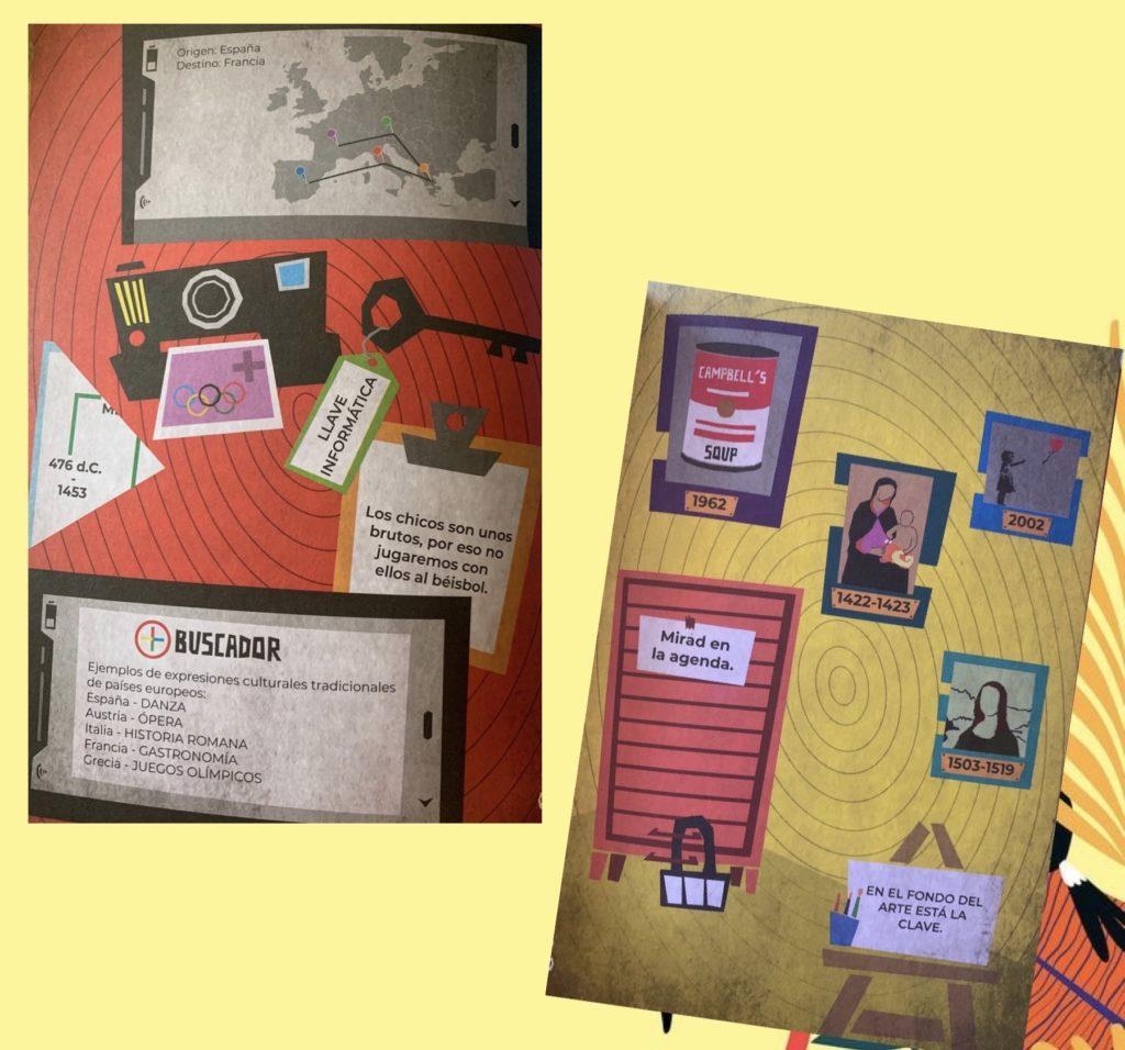 Algunas de las pruebas que se pueden encontrar en Escape Room Educativo