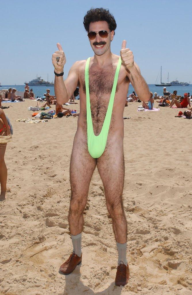 Borat y su famoso mankini verde