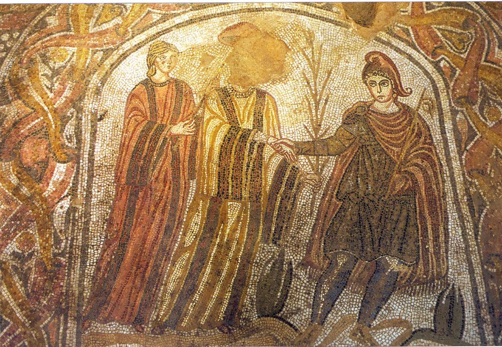 Mosaico de la Villa de las Musas, en Navarra, citado en el libro de Arcangeli