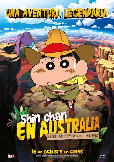 Cartel de Shin Chan en Australia tras las esmeraldas verdes. La animación entre los estrenos del 16 de octubre