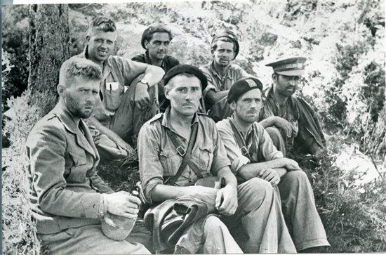 Brigadistas en la batalla del Ebro