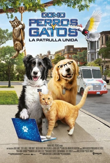 Cartel de Como perros y gatos: La patrulla unida, cine apto para niños entre los estrenos del 9 de octubre