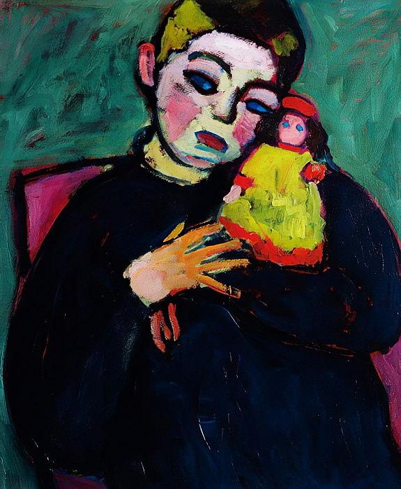 Niño con muñeca. Alexej von Jawlensky 1910