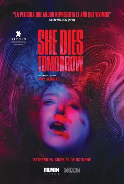 Cartel de She Dies Tomorrow, Filmin en los estrenos del 30 de octubre