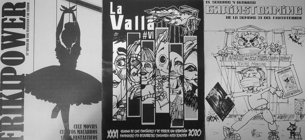 3 fanzines, Frikipower, La valla y Brainstorming