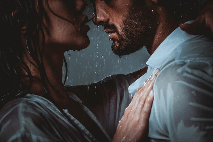 corazón lluvia
