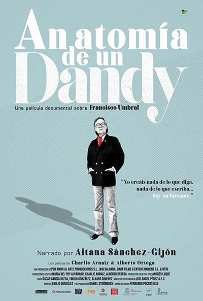 Cartel de Anatomía de un Dandy. Umbral en los estrenos del 20 de noviembre