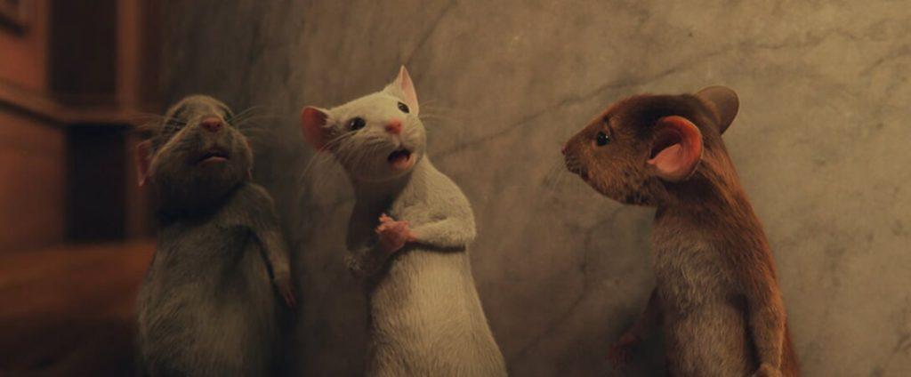 Los 3 ratoncitos, los héroes de Las brujas de Roald Dahl