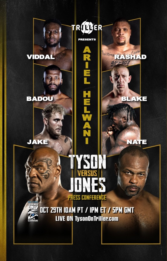 Cartel de la velada, Mike Tyson  contra Roy Jones Jr. y otros tres combates