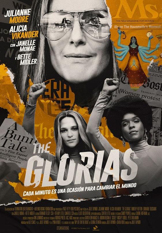 Cartel de The Glorias, feminismo en los estrenos del 18 de diciembre