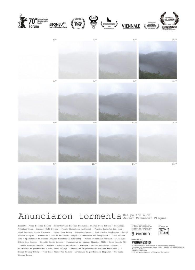 Cartel de Anunciaron tormenta, tercer documental en los estrenos del 18 de diciembre