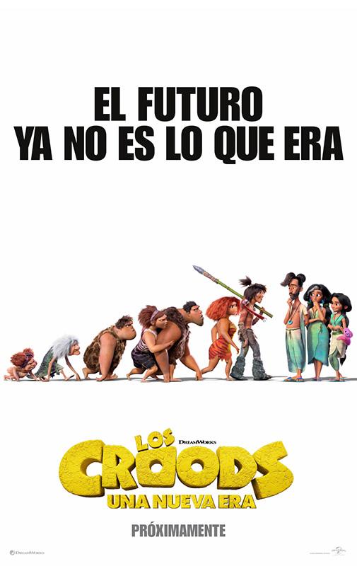 Cartel de Los Croods: Una nueva era. La animación en los estrenos del 23 de diciembre