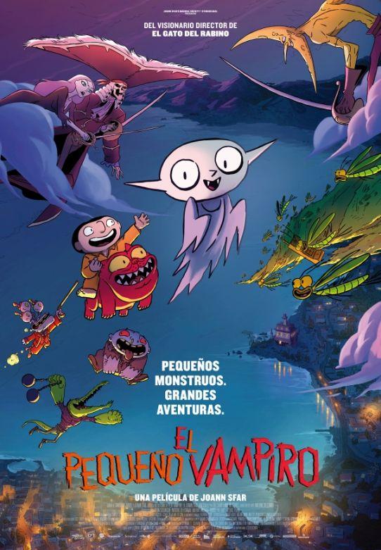 Cartel de El pequeño vampiro, la animación entre los estrenos del 6 de enero