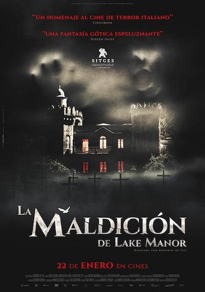 Cartel de La maldición de Lake Manor, terror italiano en los estrenos del 22 de enero
