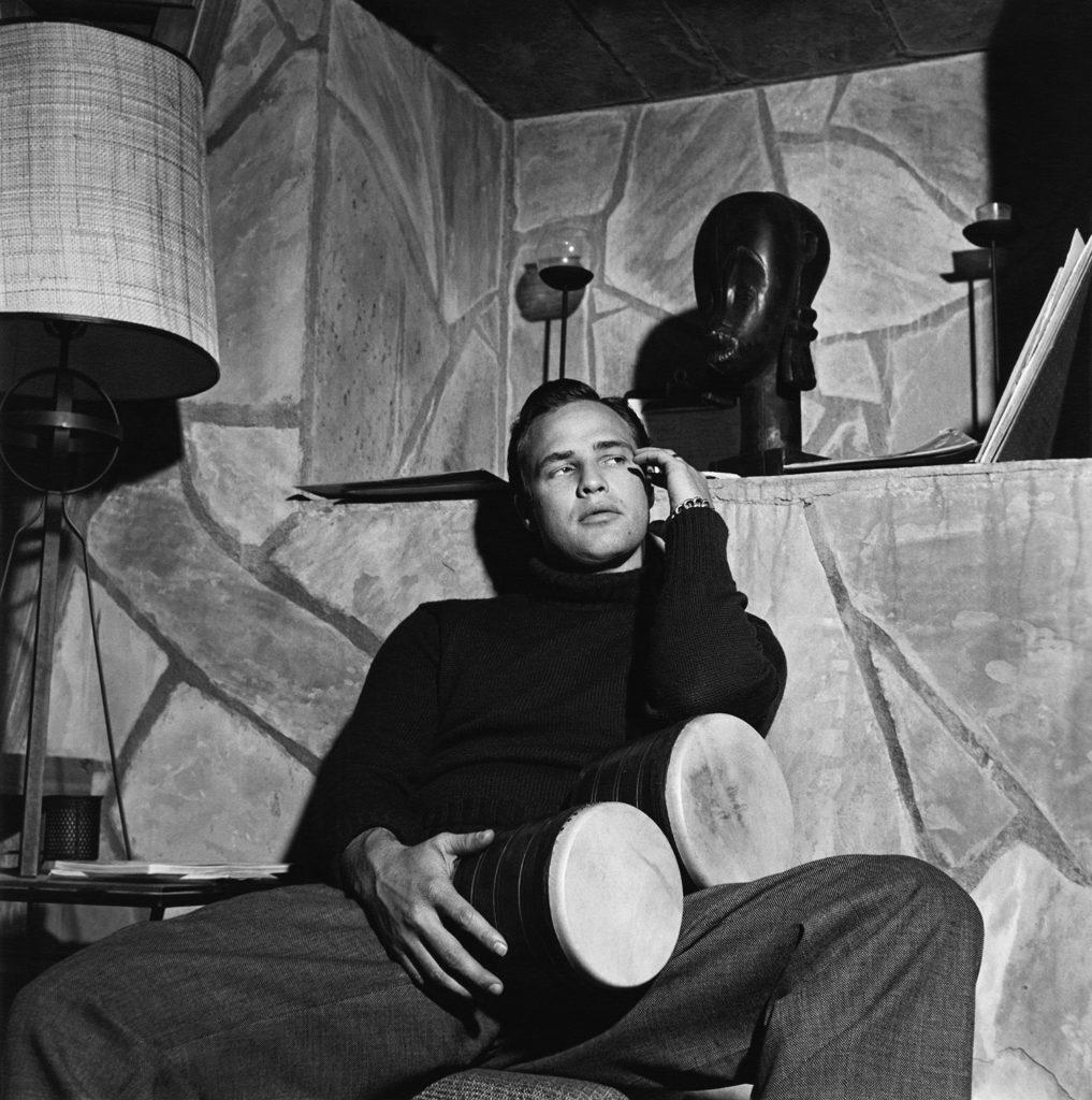 Marlon Brando en su casa de Beverly Glen de