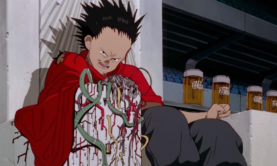 Tetsuo incapaz de controlar su poder, Akira