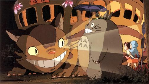 Gatobús recogiendo a Totoro