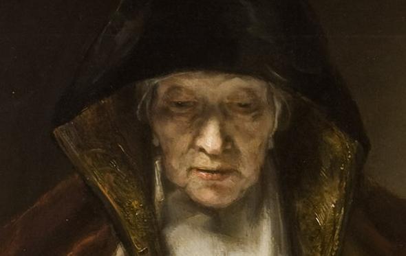 Retrato de mujer leyendo. Rembrandt van Rijn