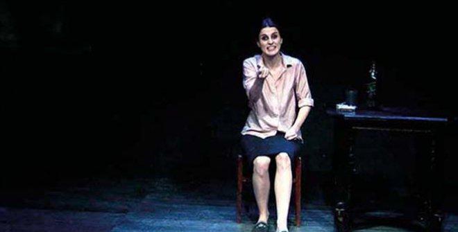 La actriz María Pastor, de la compañía Guindalera, es el contrapunto del protagonista