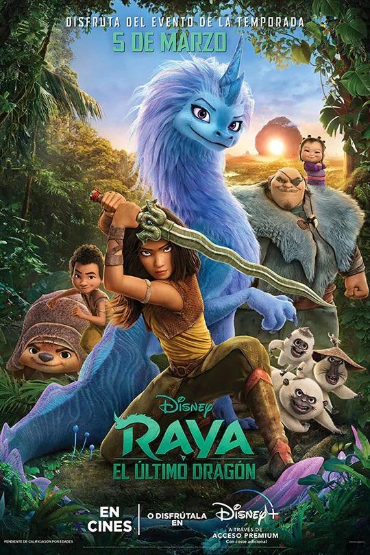 Cartel de Raya y el último dragón. Un posible taquillazo entre los estrenos del 5 de marzo