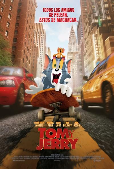 Cartel de Tom y Jerry, una animación entre los estrenos del 26 de marzo, por fin