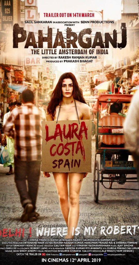 Cartel de la película de Paharganj protagonizada por Lorena Franco