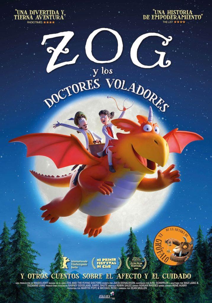 Póster de Zog y los doctores voladores. Un ,mediometraje entre los estrenos del 16 de abril