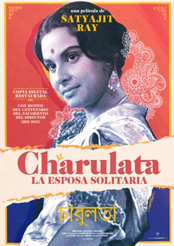 Póster de Charulata. La esposa solitaria. El segundo reestreno entre los estrenos del 30 de abril