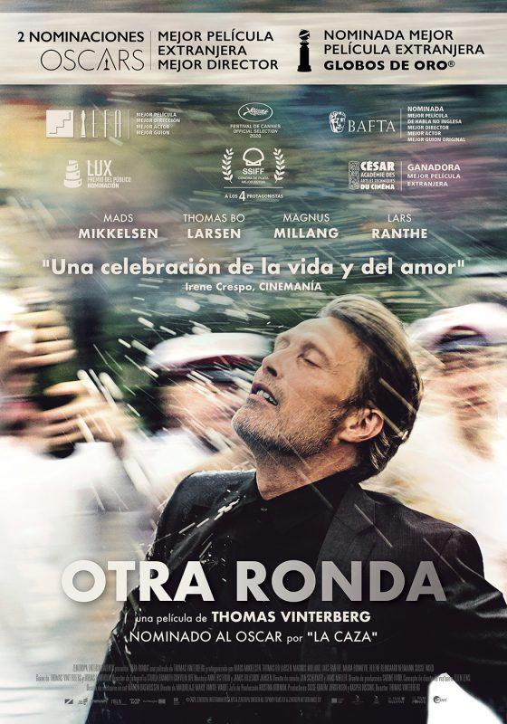 Póster de Otra ronda. Doble nominada al Oscar entre los los estrenos del 9 de abril