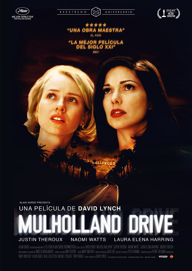 Póster de Mulholland Drive. Un reestreno entre los estrenos del 11 de junio