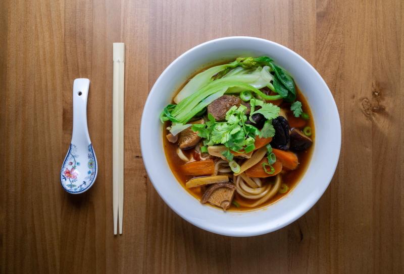 Zen Asian Bistró Ponzano pasta
