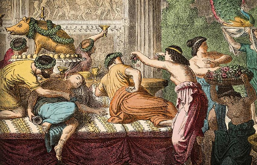 Golfus de Roma está escrito por el conocido compositor anglosajón de musicales Stephen Sondheim