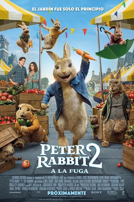 Póster de Peter Rabbit 2: A la fuga, la animación de los estrenos del 16 de julio