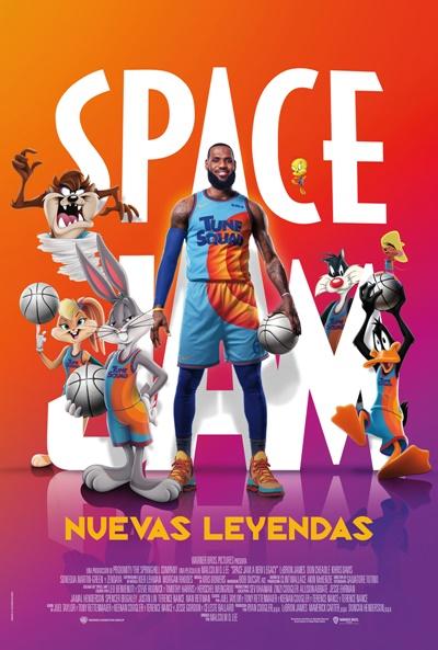 Póster de Space Jam: Nuevas leyendas. Otra esperada película que llega a os estrenos del 23 de julio