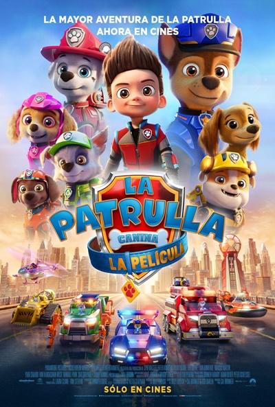 Póster de  La Patrulla Canina: La película. La animación entre los estrenos del 27 de agosto